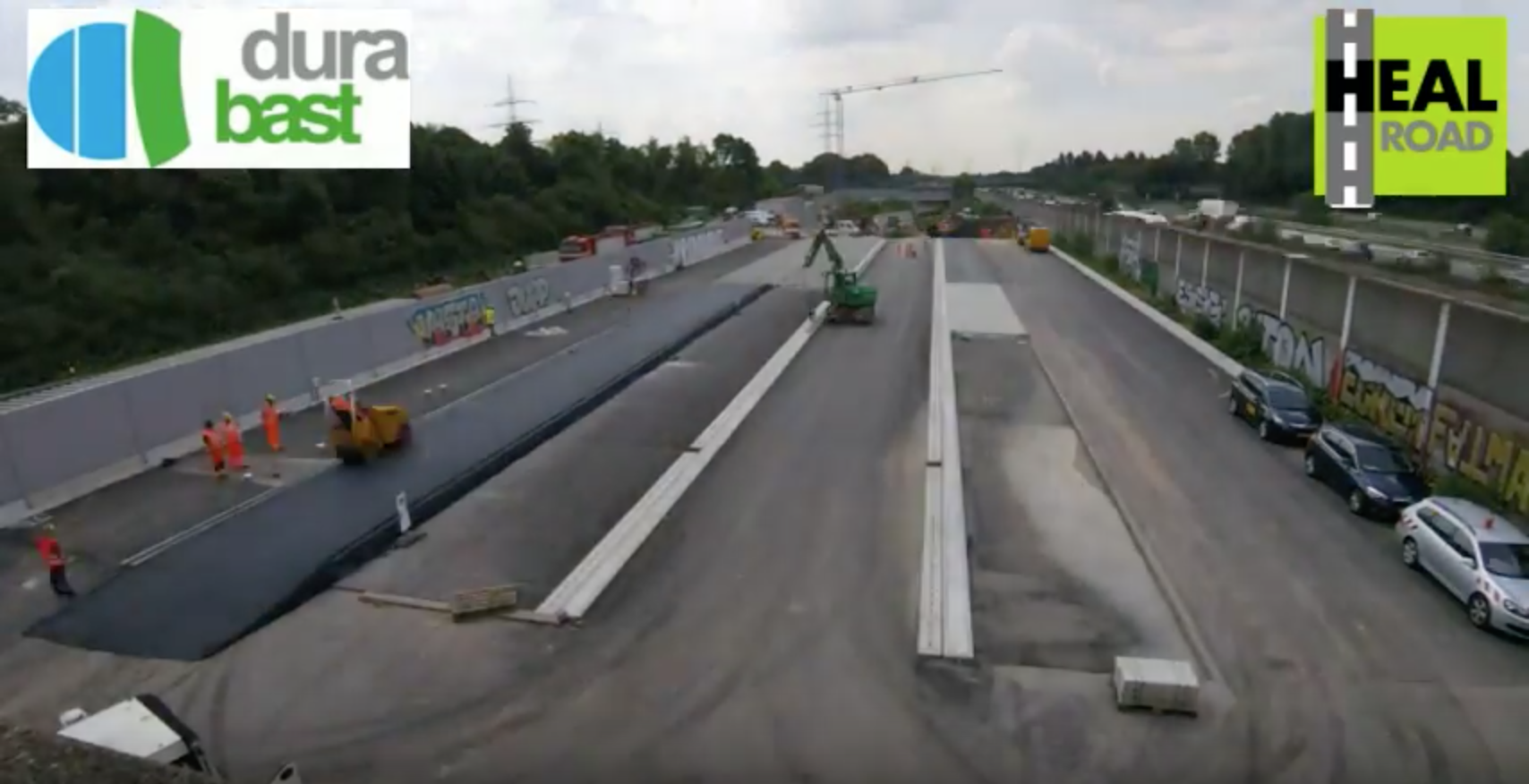 Test track construction for HEALROAD constructed in Germany